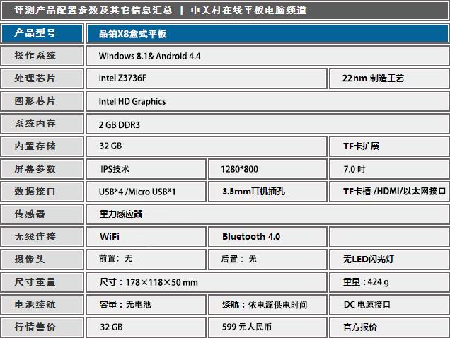 超级二合一 品铂X8双系统盒式平板评测