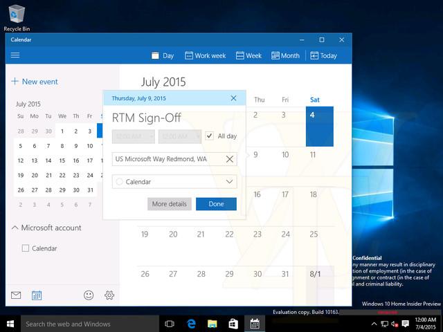 Windows 10 Build 10240即为RTM正式版