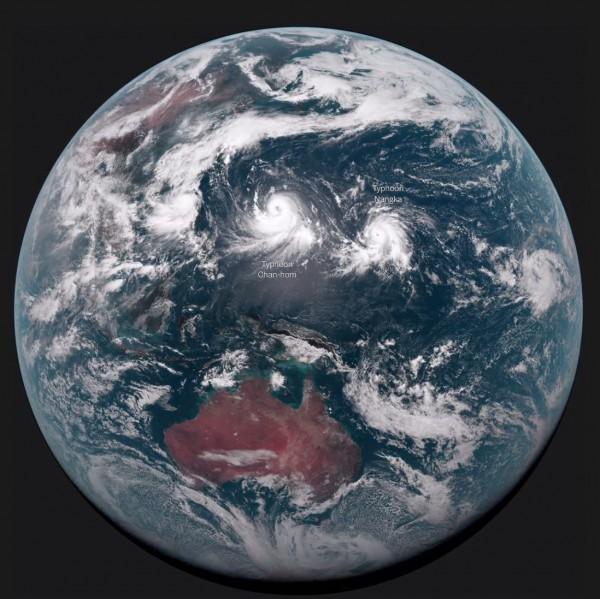 日本新型气象卫星拍到最美地球照