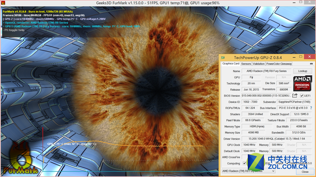 AMD次旗舰终于降临 蓝宝石Fury首发测试