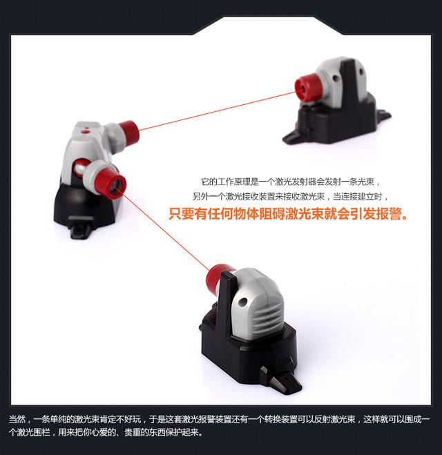 不需电影中 家里也能用的激光报警器