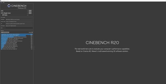 深圳IT网报道:Maxon发布Cinebench R20 对新处理器优化