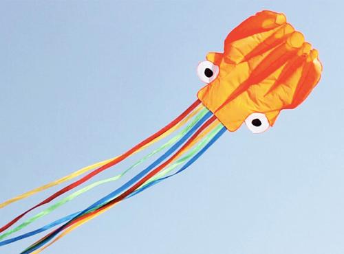 春天到了,放风筝喽~潍坊软体现代易飞 章鱼风筝