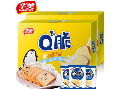 华美食品Q脆蛋糕180gx2盒