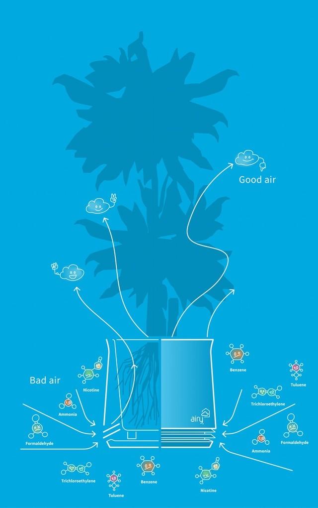 智能奇趣 不用充电的花盆也能净化空气