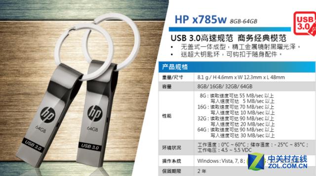 专业存储选择 HP x785w 32G仅售89.9元