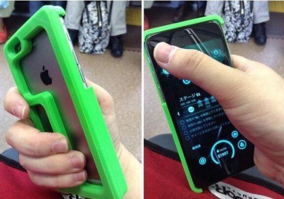 日本网友设计创意手机壳 解决iPhone 6手持难题