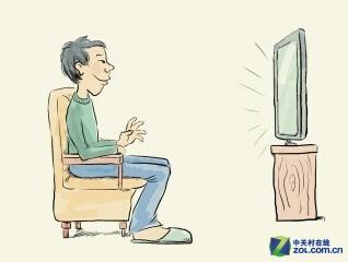 正确坐姿(左)错误坐姿(右)-手势操作是未来 传统键鼠是否地位难保