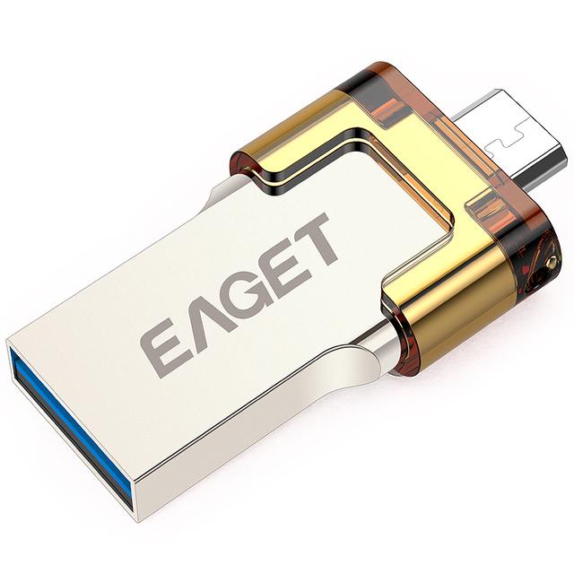 V80在手机u盘功能多效的基础上,更注重提升u盘本身的读写速度,配备了现如今市场上最尖端的USB3.0接口,实际传输速度也同样惊人。40..8mb/s的实际读取速率和最大能达到20.6mb/s的写入速率。传输一部高清电影仅需30s,可以说是绝无仅有,很多知名国际品牌都很难做到,数据传输时间在世面市面上的同款手机u盘中独领风骚。 最全能--忆捷手机u盘V90