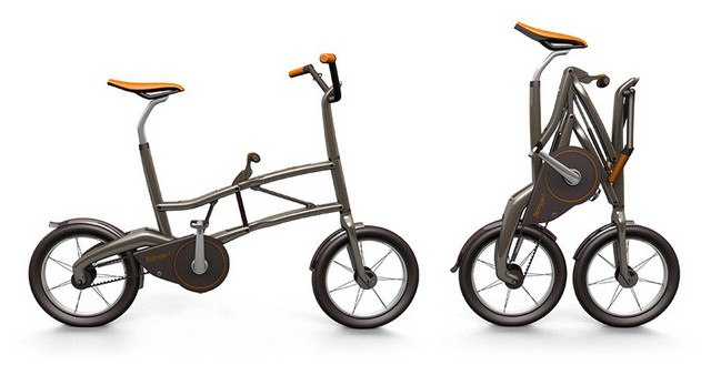 e2 2秒快速折叠的城市自行车