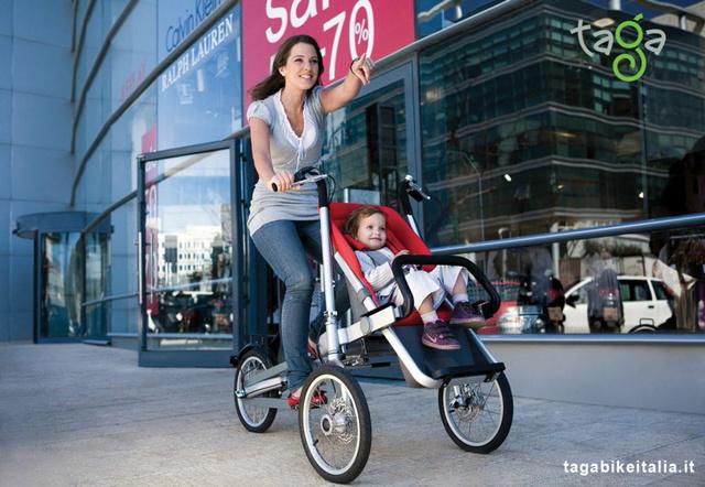 高科技宝宝座驾 taga bike骑行婴儿车