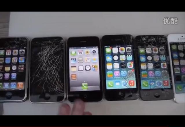 土豪测试:从iPhone一代到6 Plus全跌落