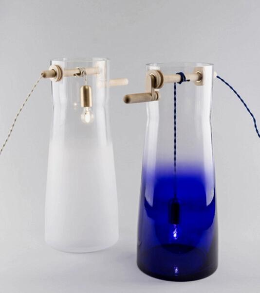 精彩设计:用辘轳转动调光的个性水井灯