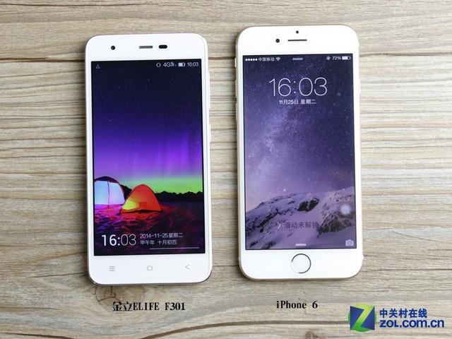 iphone6正面对比