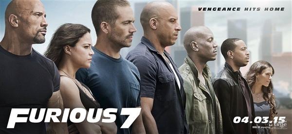 《速度与激情7》 最新全主角海报曝光