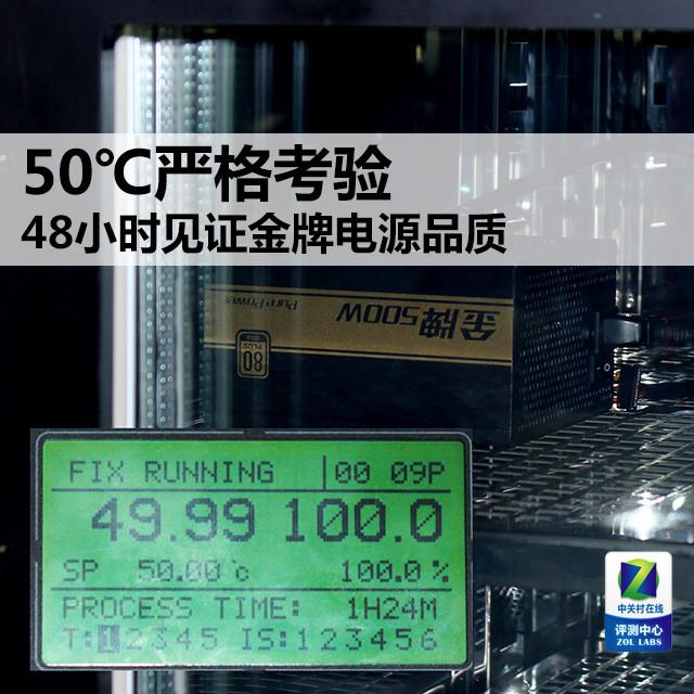 50℃严格考验 48小时见证金牌电源品质