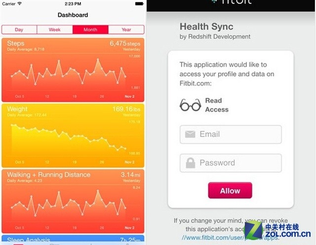 苹果Health可通过第三方应用Fitbit同步