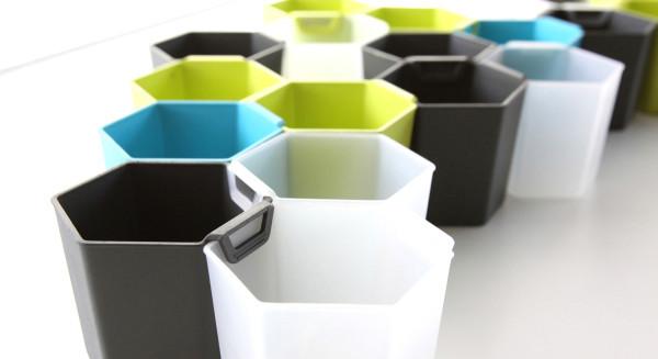 高效空间利用 蜂巢储物盒提供时尚体验图片