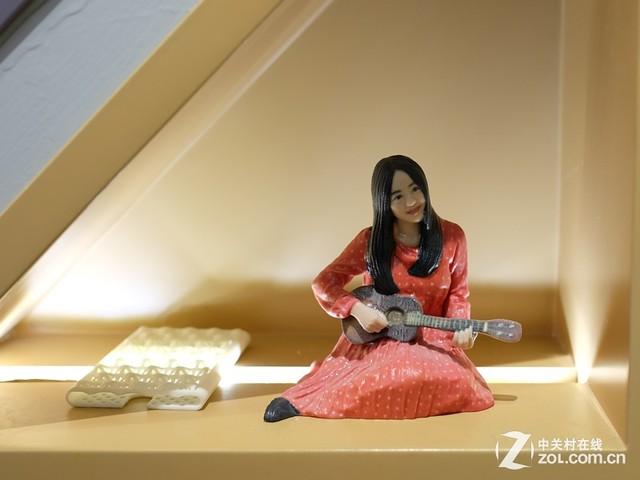 全彩人像3d打印作品展示:弹吉他的少女