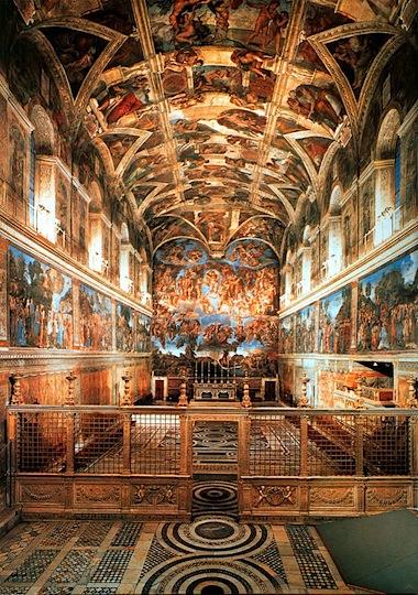 美轮美奂 7000颗LED灯扮靓西斯廷教堂