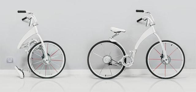 全能自行车gi bike:可折叠+智能防盗
