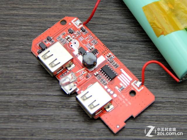 劣质充电宝的电路板