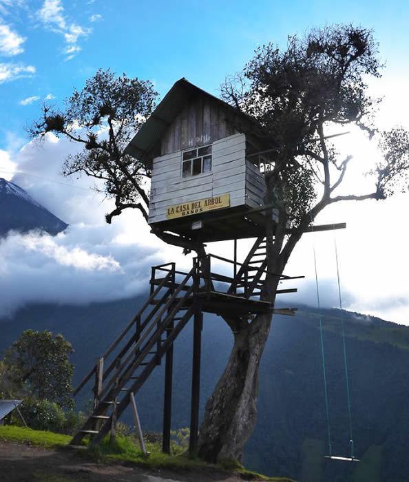 而今天我们看到的有最迷你的树屋,也有结构宏伟的树屋豪宅,它们来自世