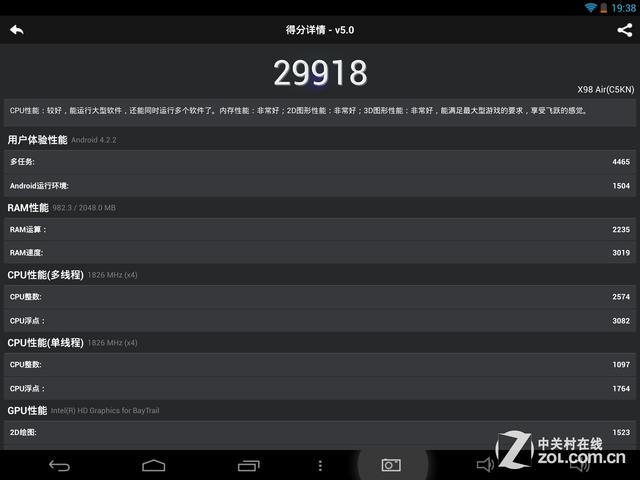 64位强芯原装视网膜屏 台电X98 Air评测