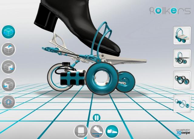 rollkers智能滑板鞋(图片来自rollkers)