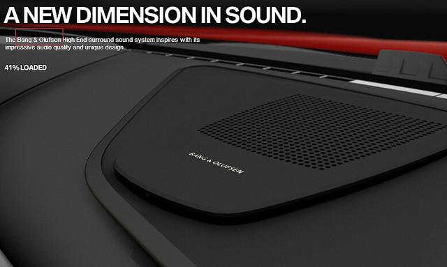 宝马6系配备b&o 16声道环绕立体声音响系统