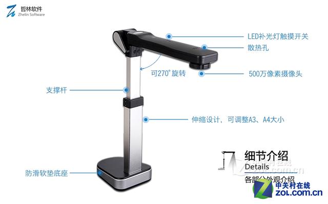 低碳高效办公 首选哲林ZL-500A3高拍仪