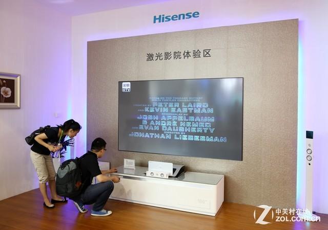 2014青岛SINOCES:海信推出激光电视!