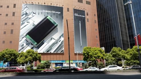 三星galaxy s6 edge异形广告上海首秀