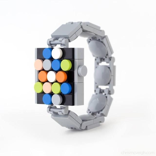 不用等上市 乐高积木打造Apple Watch