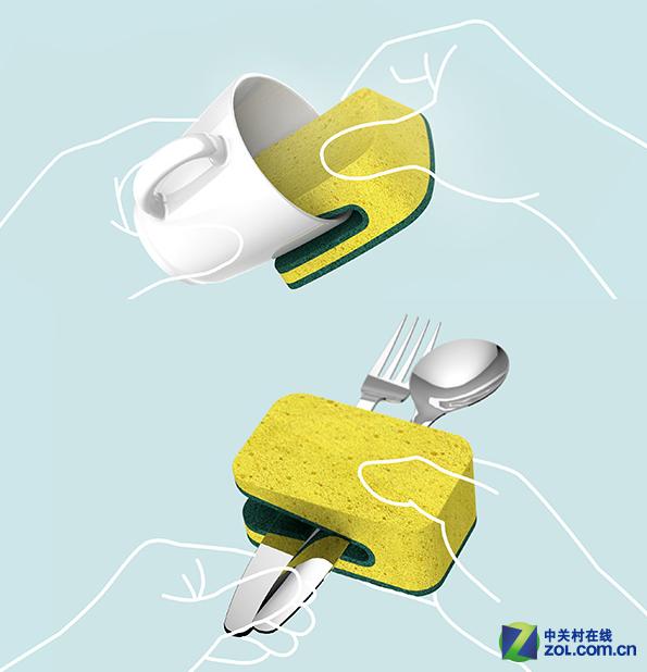 怎么样,是不是非常有趣呢? 在材质方面,这款洗碗巾采用了无毒无害的材料制造,并且具有耐高温的特性,即使是在热水中使用也不会变形。弹性方面也是比较十足,可以快速恢复到初始状态。总体上看来,这款新式洗碗布非常有特点,方便了大家清洗餐具,值得全面推广。
