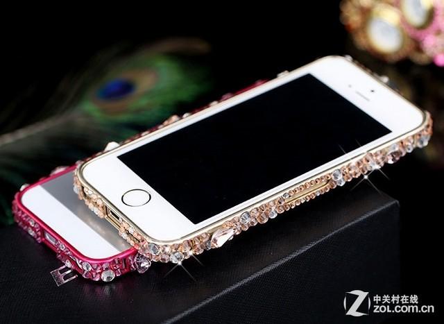 耀眼奢华 iphone 5s镶钻金属边框188元