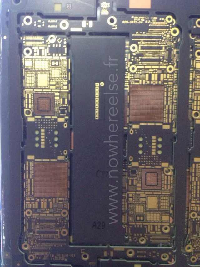 苹果频道 新闻 > 正文    从曝光的图片来看,iphone 6的主板与前几代