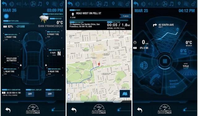 界面科技范十足 linux开源汽车智能系统