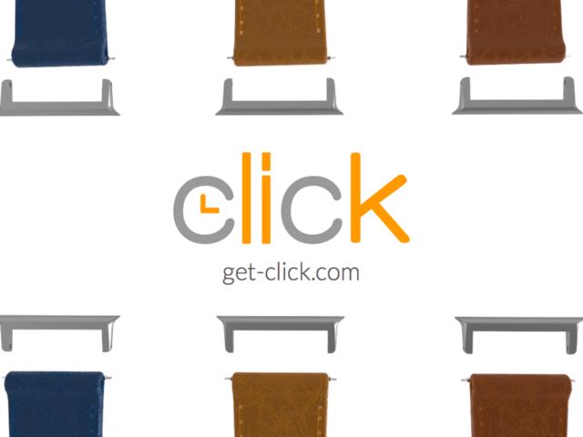 click的简单适配器可以嵌入 apple watch的凹槽中,就像苹果自家的腕带