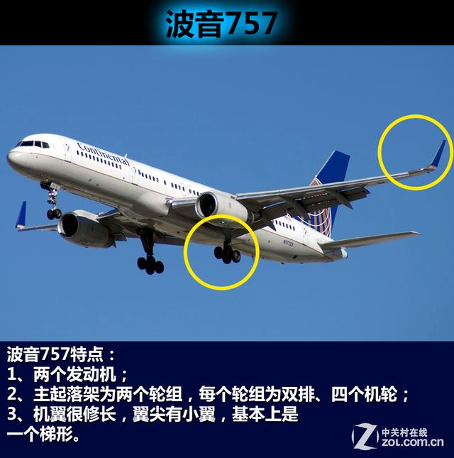 区分飞机型号的典型外观特征