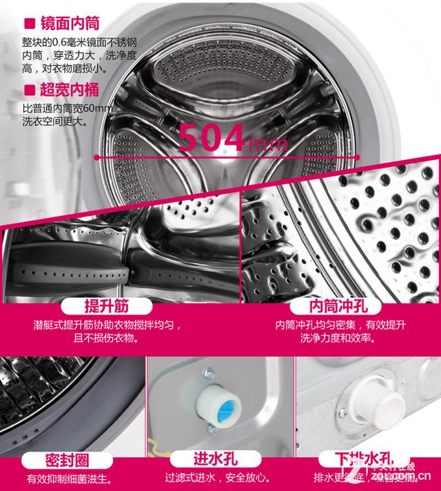 三洋dg-f6031wn滚筒洗衣机内筒展示