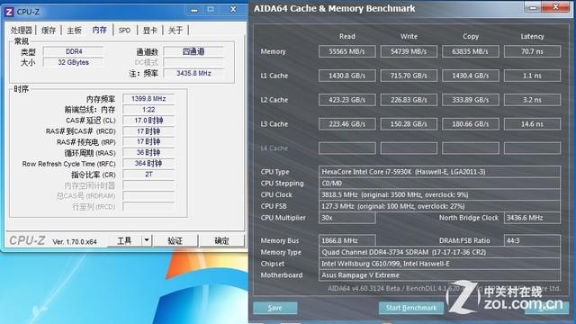 红色威龙增强版 威刚32G DDR4 2800测试(威刚自己连 准确型号都没分清楚)