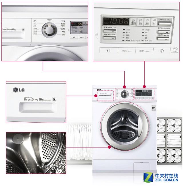 众多人性化的细节设计 编辑点评:这款洗衣机是一款综合性不俗:DD变频直驱电机的应用节能减耗,同时震动和噪音控制效果显著,模仿人工的手洗模式,带来洁净的清洗效果同时更为呵护衣物,丰富的洗护程序,便捷的操作控制,人性化的细节设计等等。现在京东商城促销仅售2199元,性价比突出,机不可失,喜欢的朋友赶快行动起来吧! LG WD-N12430D滚筒洗衣机 [参考价格] 2199元 [购买链接] 京东商城 [参数查询] 中关村在线