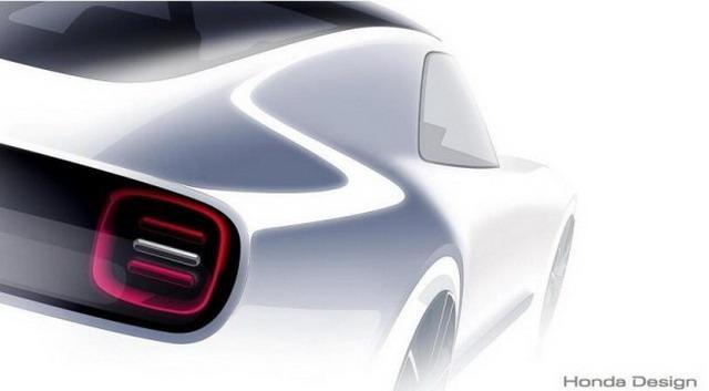 本田新纯电概念车预告图 10月25日发布