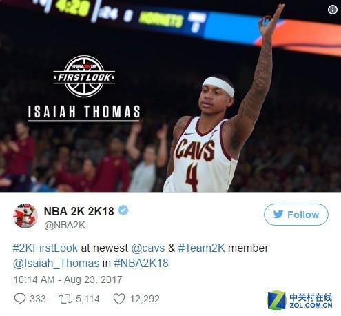 《NBA 2K18》回应封面球星转会尴尬