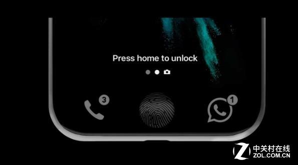 苹果:内置iPhone屏幕指纹识别新专利