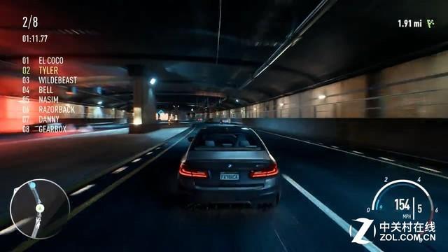 极品飞车20 4K演示 老司机一路火花带闪电