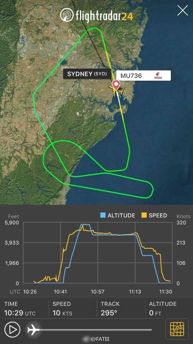 东方航空mu736航班飞机整流罩爆炸(图片来自微博)
