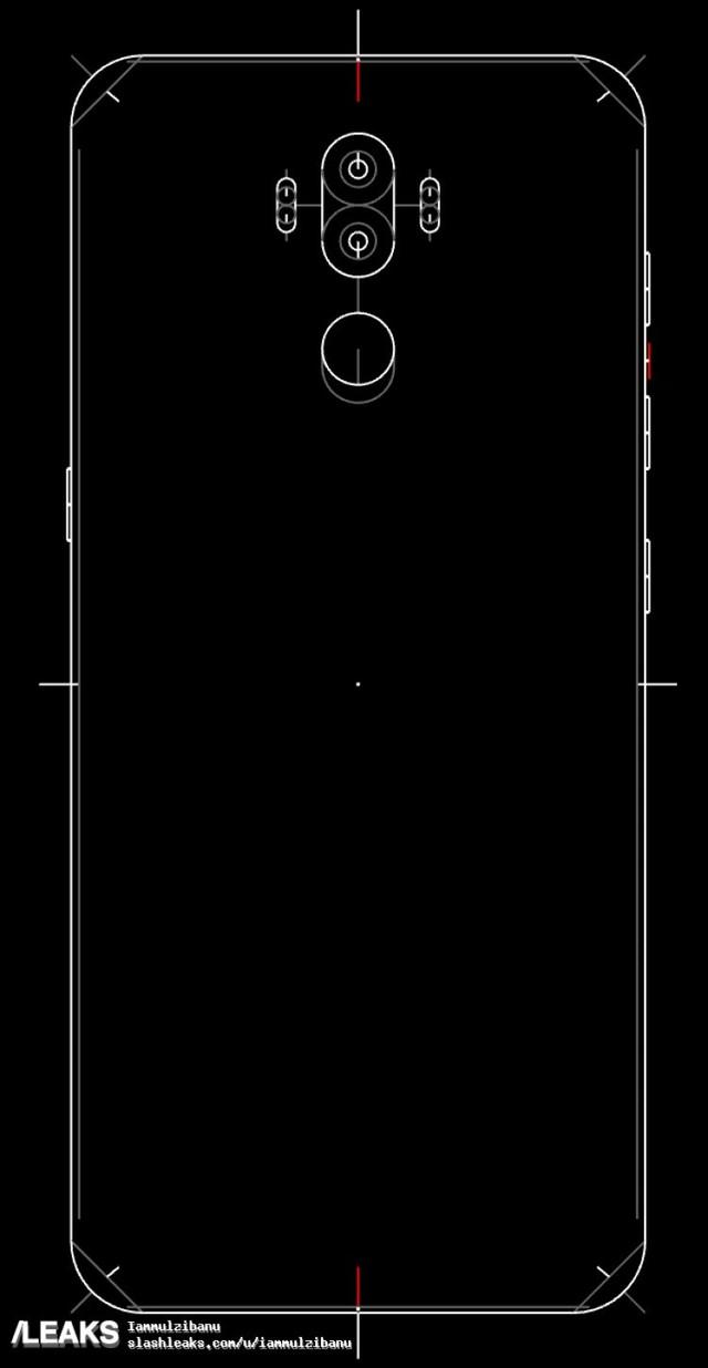 三星Note 8设计图曝光 无缘屏幕内指纹