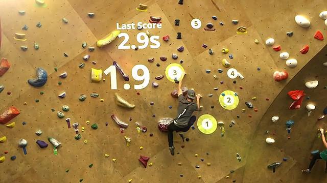 纽约攀岩馆引入AR技术 让攀岩不再单调